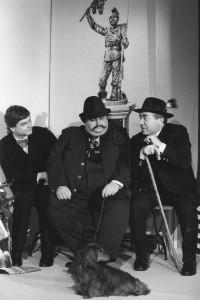 Kaufmann Pfinsinger, Metzger Huber und Brauereibesitzer Bortenbichler